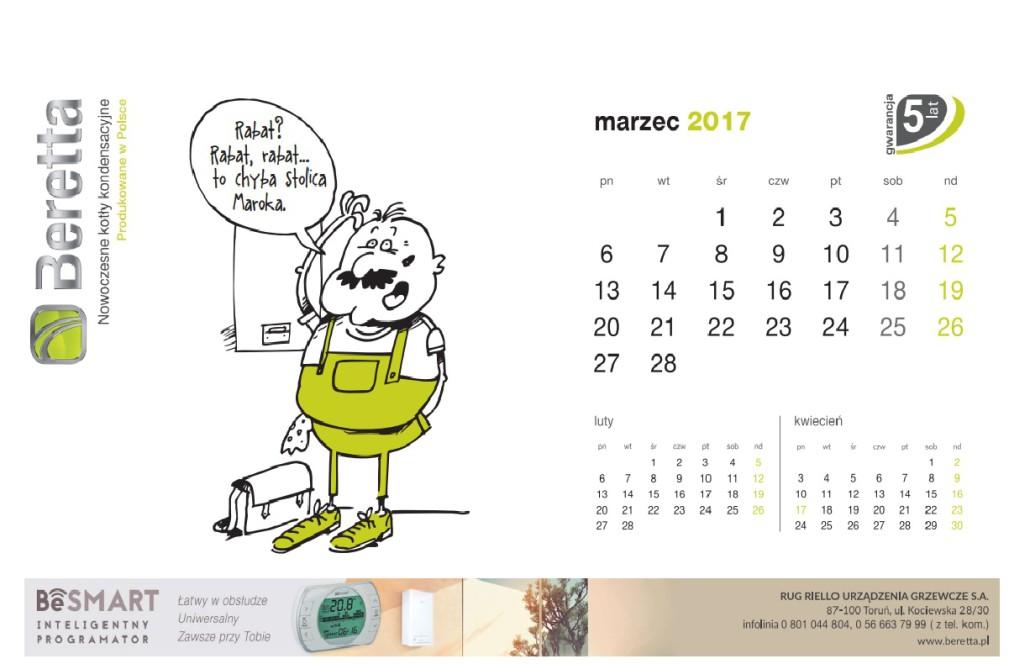 Kartka z kalendarza Beretta. Marzec. jpg
