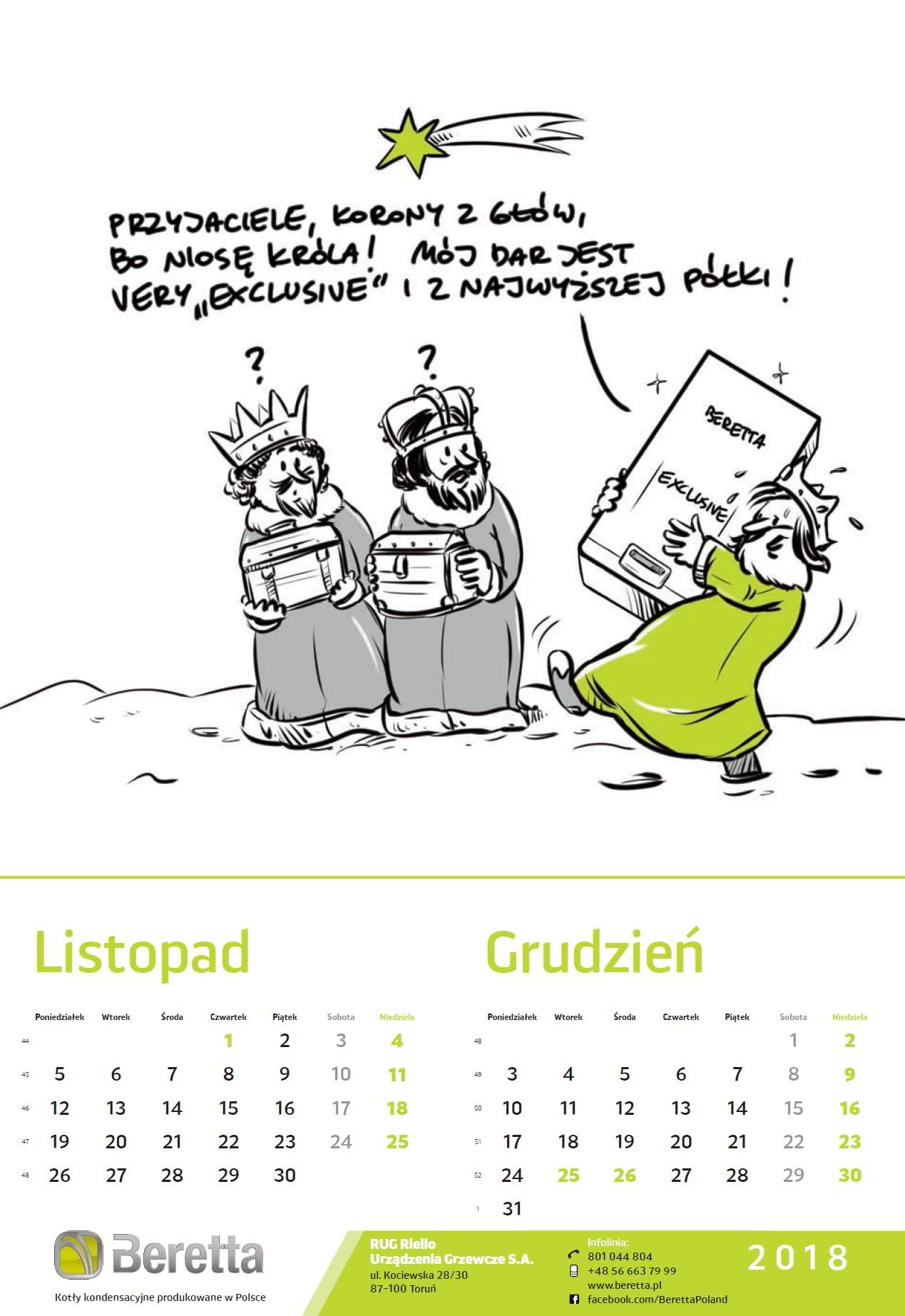 Kartka z kalendarza Beretta_Listopad_Grudzień 2018